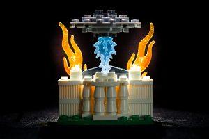 Ufo sprengt Weißes Haus in die Luft. Lego-Modell.