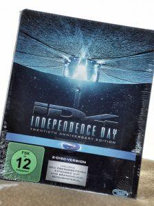 Independence Day-Blu-Ray auf Kissen