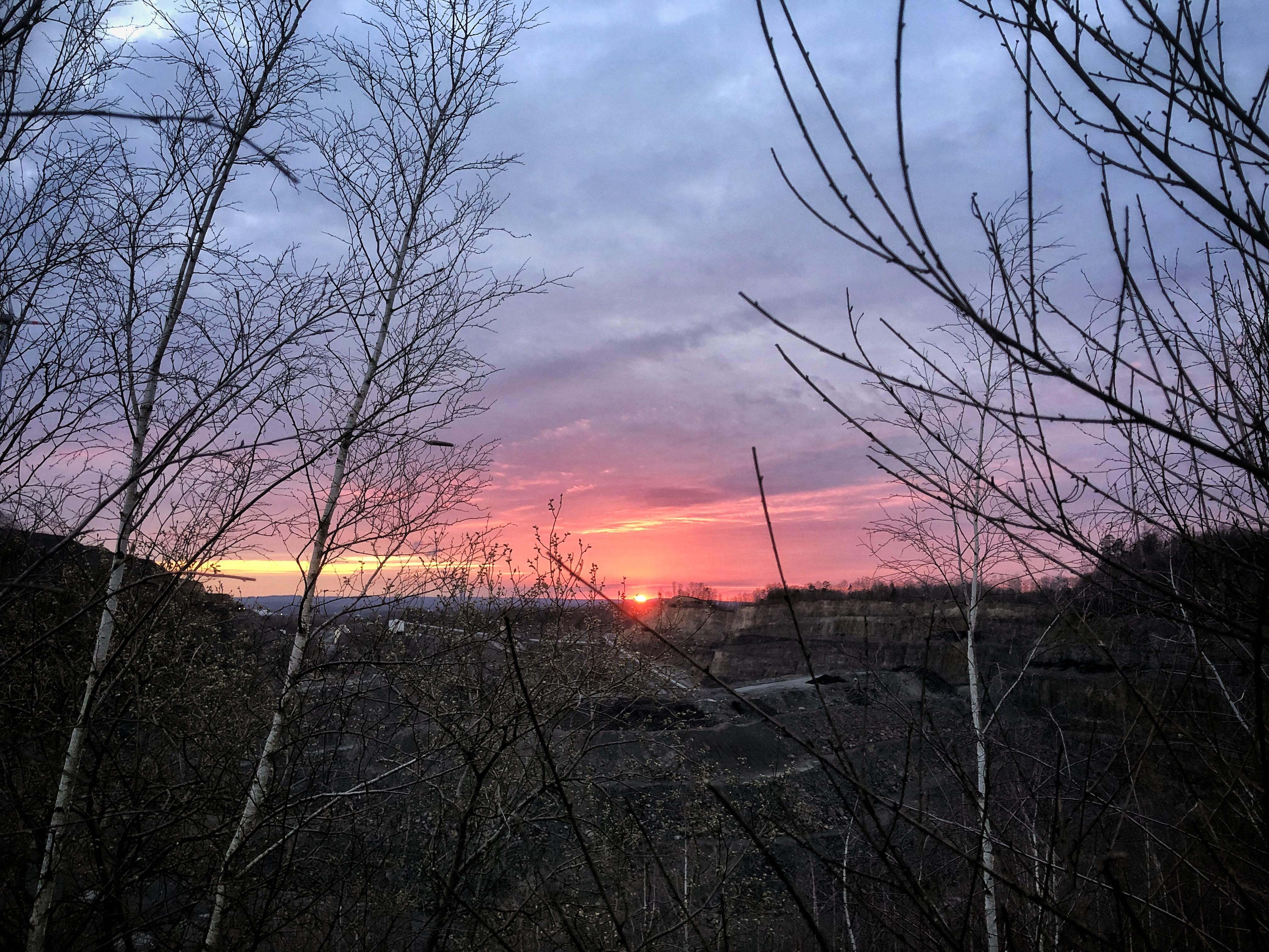 Sonnenuntergang und Corona